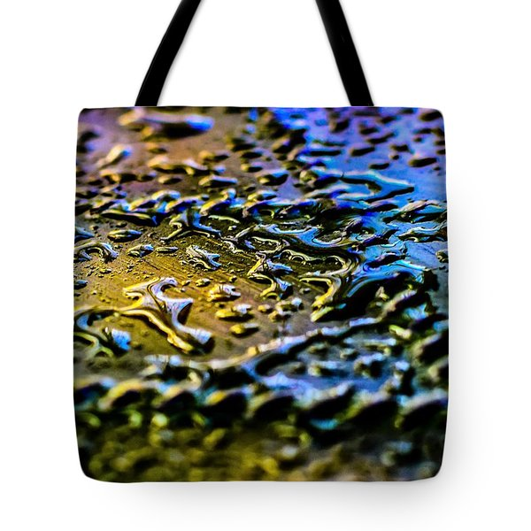 Beaded Water Texture Tote Bag