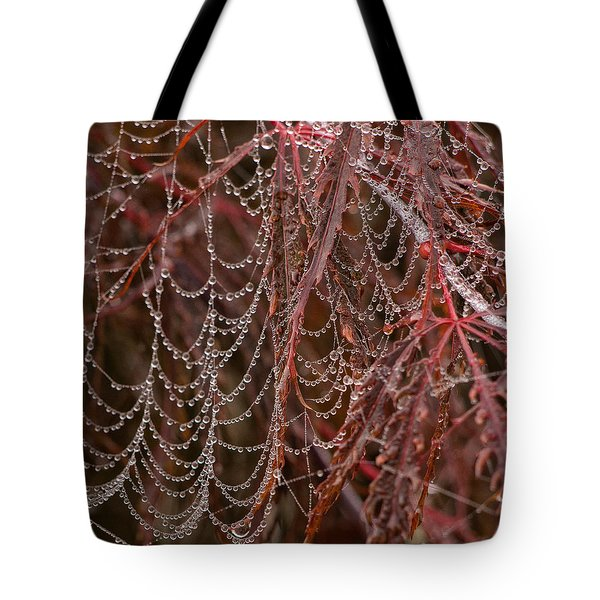 Beads Of Raindrops Tote Bag