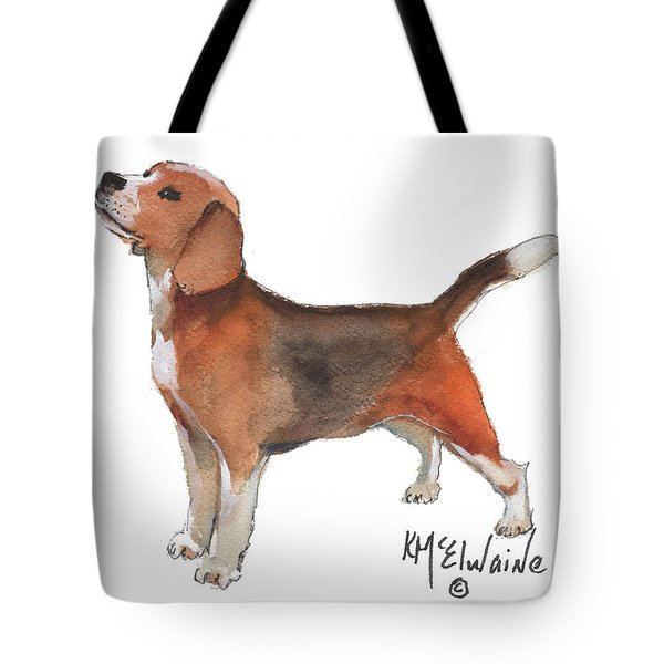 Beagle Watercolor Painting By Kmcelwaine Tote Bag