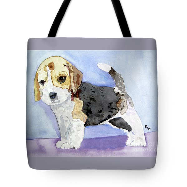 Beagle Pup Tote Bag by Sandy McIntire