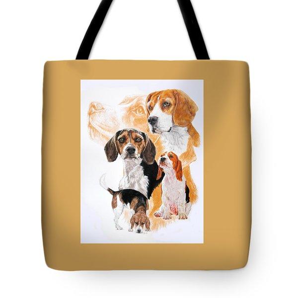 Beagle W/ghost Tote Bag by Barbara Keith
