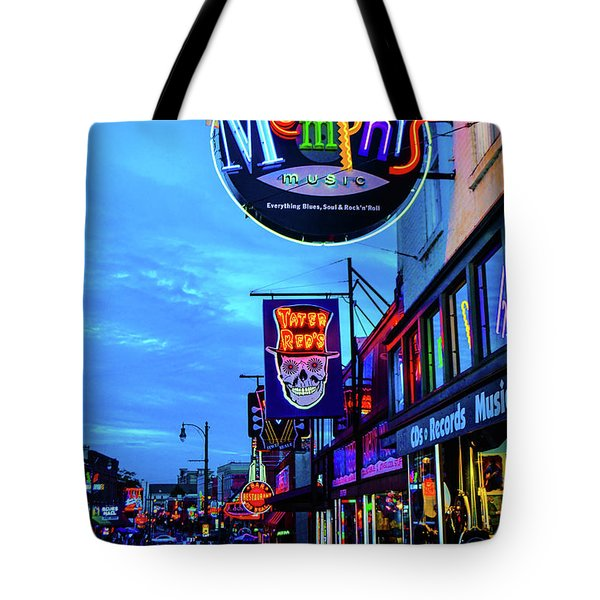 Beale Str. Blues  Tote Bag