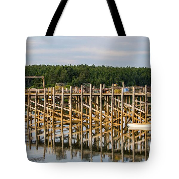 Beals Island, Maine  Tote Bag by Trace Kittrell