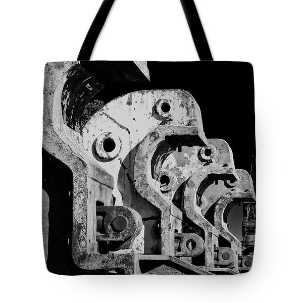 Tote Bag featuring the photograph Beam Bender - Bw by Werner Padarin