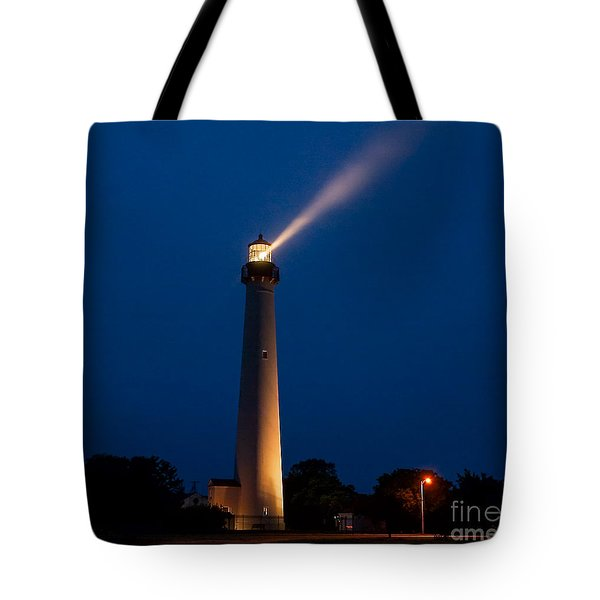 Tote Bag featuring the photograph Beam Of Light At Cape May by Nick Zelinsky
