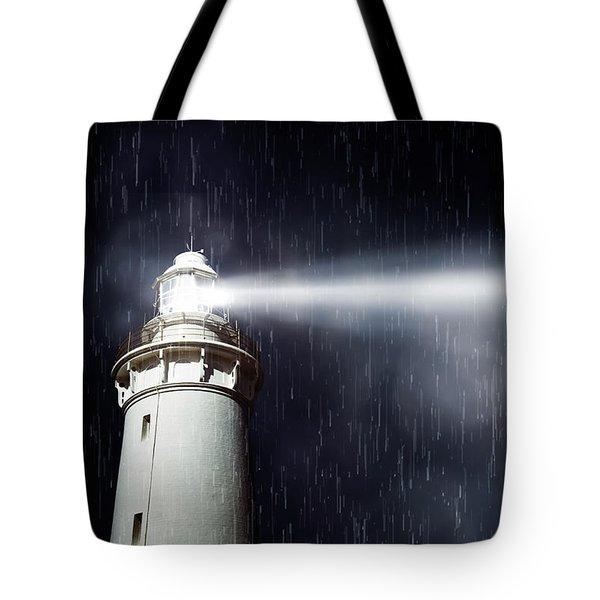Beaming Lighthouse Tote Bag