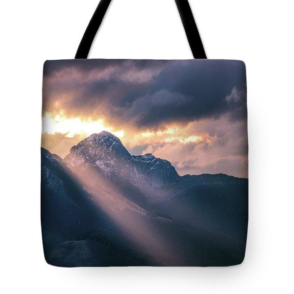 Beams Of Fire Tote Bag