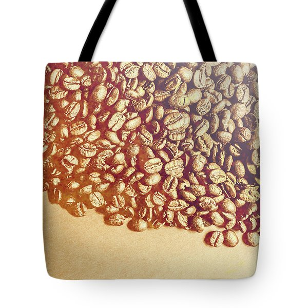 Bean Background With Coffee Space Tote Bag