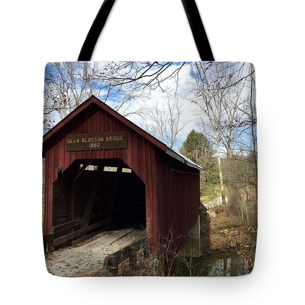 Bean Blossom Bridge, 1880 Tote Bag by Russell Keating