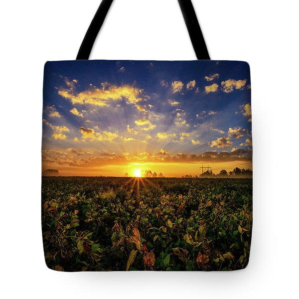 Bean Field Dawn Tote Bag