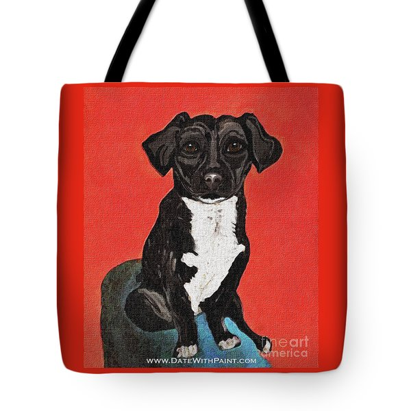 Tote Bag featuring the painting Bean_dwp_may 2017 by Ania M Milo