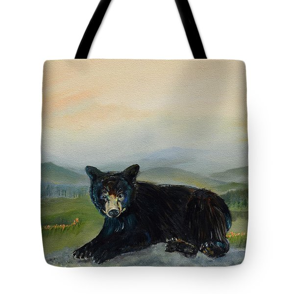Bear Alone On Blue Ridge Mountain Tote Bag