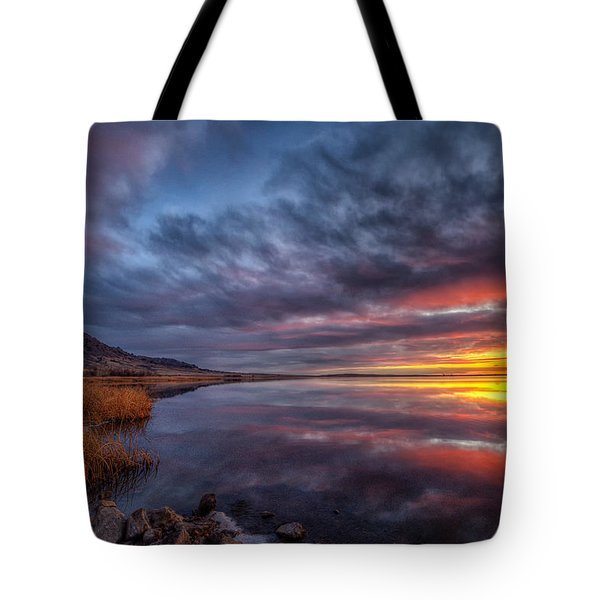 Bear Butte Lake Sunrise Tote Bag