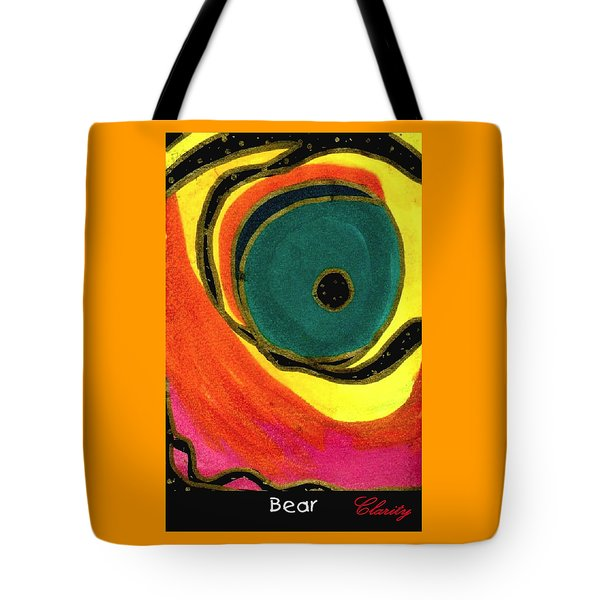 Tote Bag featuring the painting Bear by Clarity Artists