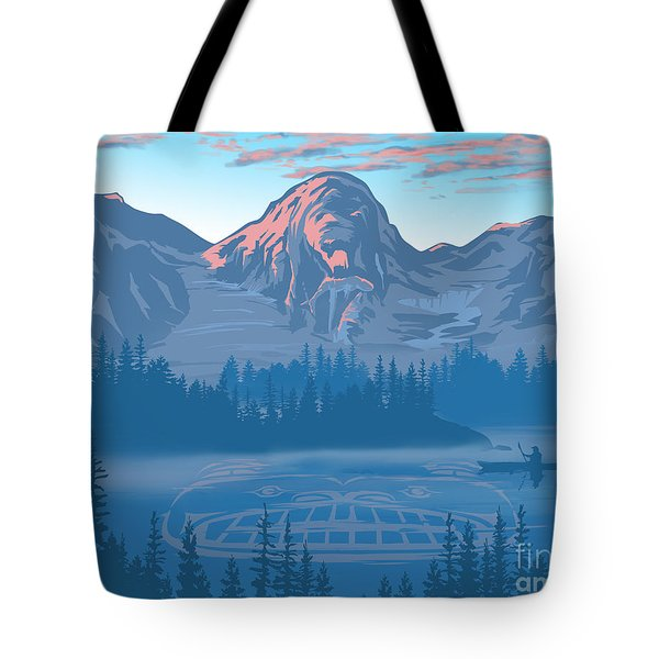 Bear Country Scenic Landscape Tote Bag