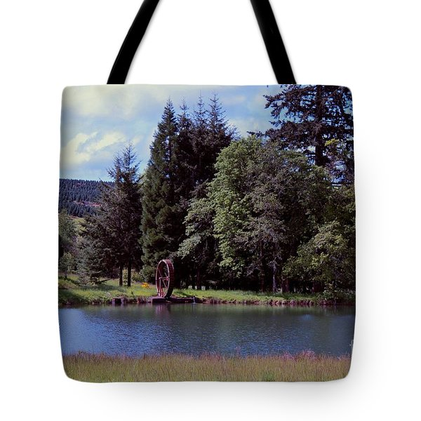 Bear Creek Water Wheel Tote Bag