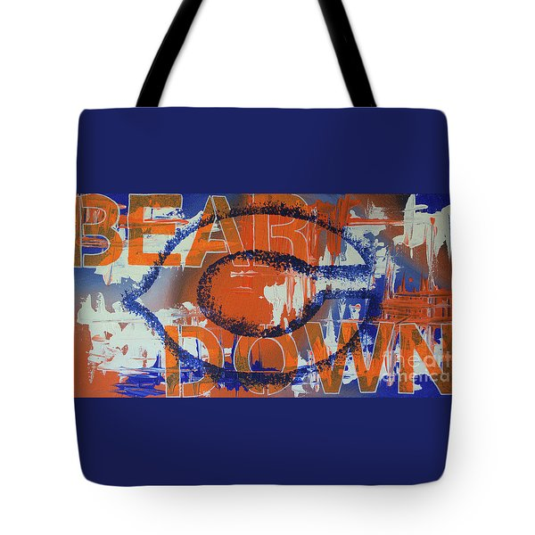 Tote Bag featuring the painting Bear Down by Melissa Goodrich