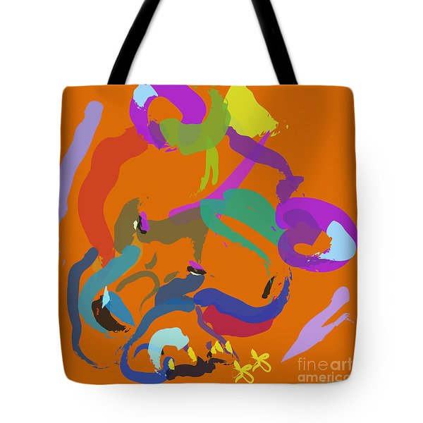 Tote Bag featuring the painting Bear  by Go Van Kampen