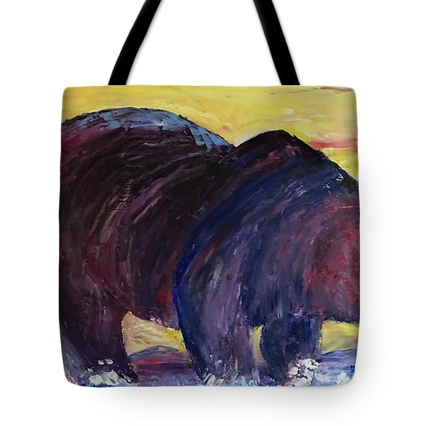 Bear Hot Summer  Tote Bag