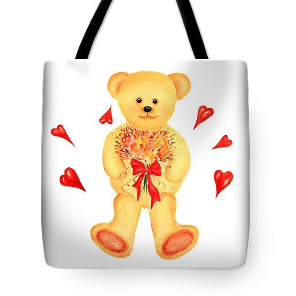 Bear In Love Tote Bag
