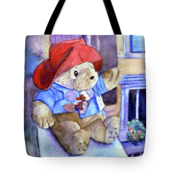 Bear In Venice Tote Bag