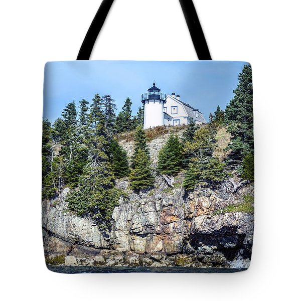 Bear Island Lighthouse Tote Bag