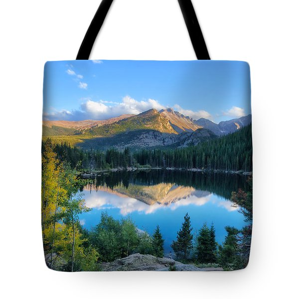 Bear Lake Reflection Tote Bag by Ronda Kimbrow