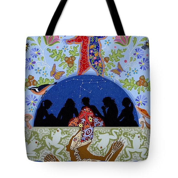 Tote Bag featuring the painting Bear Medicine by Chholing Taha