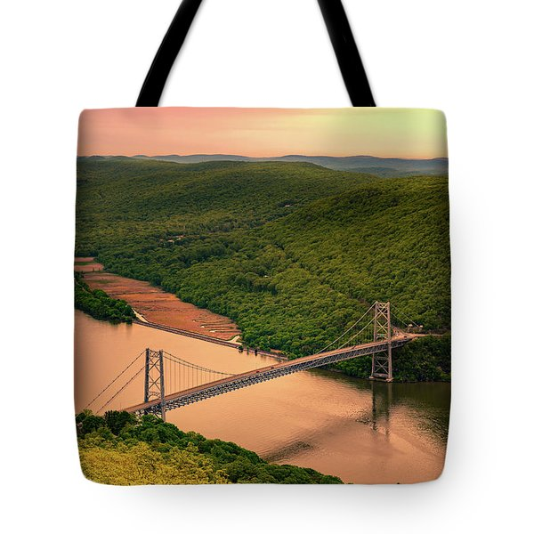 Tote Bag featuring the photograph Bear Mountain Bridge by Mihai Andritoiu