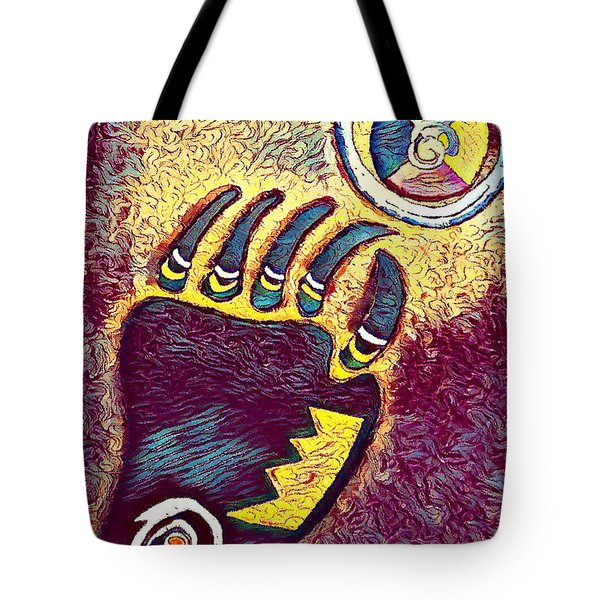 Bear Paw Print 3  Tote Bag