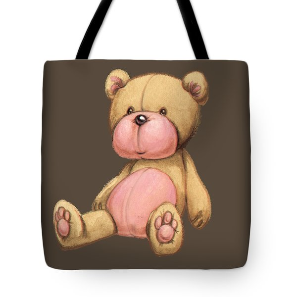 Bear Pink Tote Bag