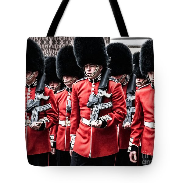 Tote Bag featuring the photograph Bear Skins On Parade by Lenny Carter