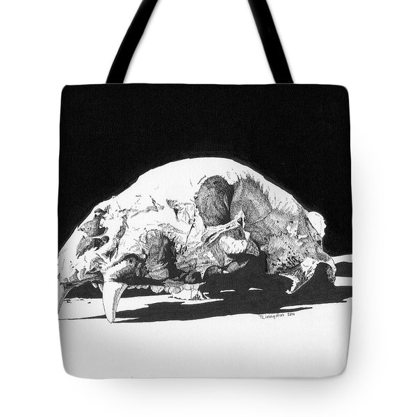 Bear Skull Tote Bag
