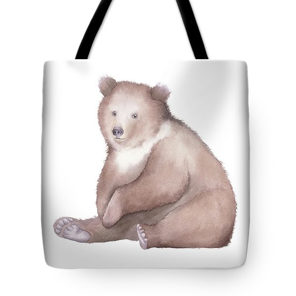 Bear Watercolor Tote Bag by Taylan Apukovska