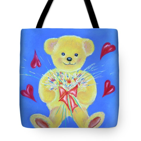 Bear With Flowers Tote Bag