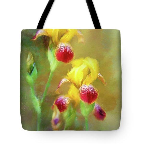 Bearded Iris Pair Tote Bag