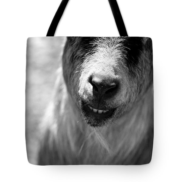 Tote Bag featuring the photograph Beardy Smiley by Angela Rath