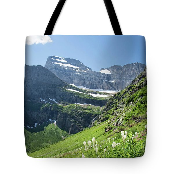 Beargrass - Grinnell Glacier Trail - Glacier National Park Tote Bag
