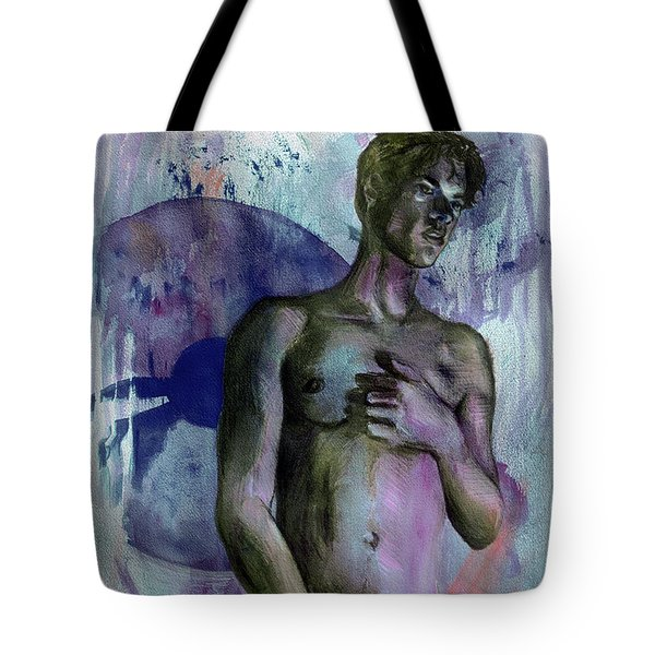 Tote Bag featuring the painting Bearing Mysteries  by Rene Capone