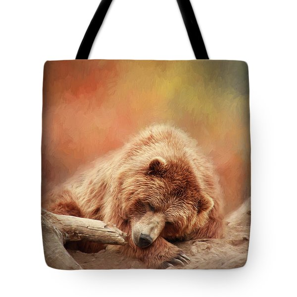 Bearly Asleep Tote Bag
