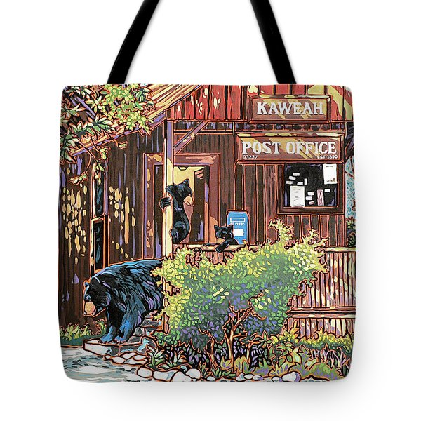 Bears At The Kaweah Post Tote Bag by Nadi Spencer