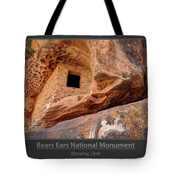 Bears Ears National Monument - Anasazi Ruin Tote Bag by Gary Whitton