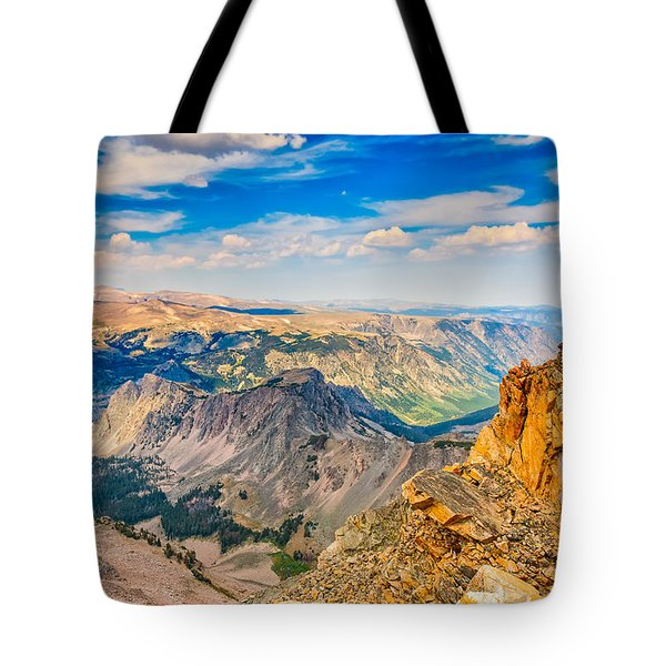 Tote Bag featuring the photograph Beartooth Highway Scenic View by John M Bailey