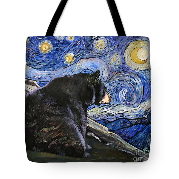 Beary Starry Nights Tote Bag