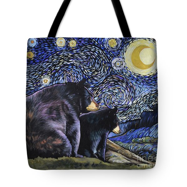 Beary Starry Nights Too Tote Bag