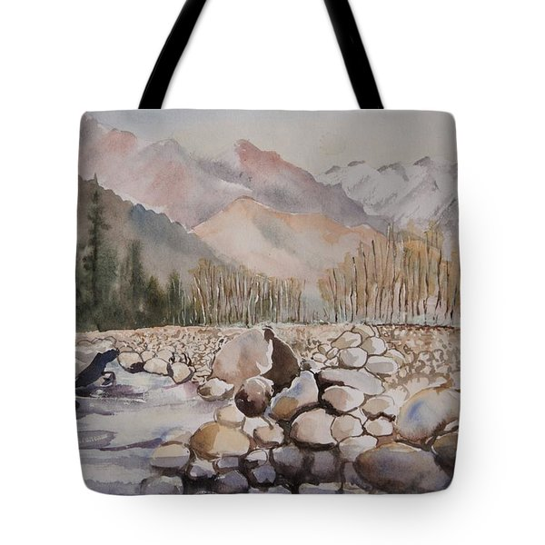Beas River Manali Tote Bag