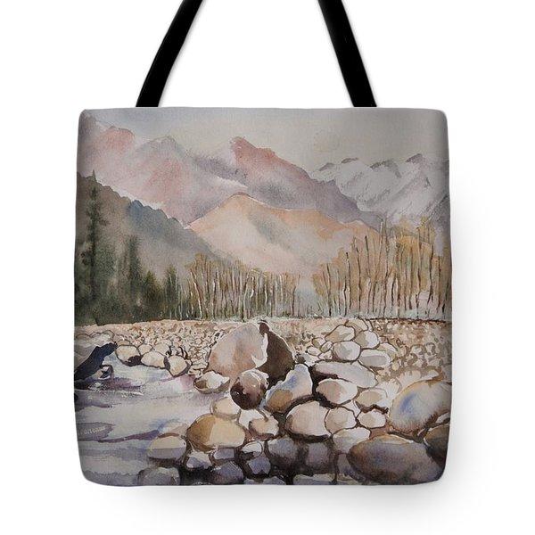 Beas River Manali Tote Bag