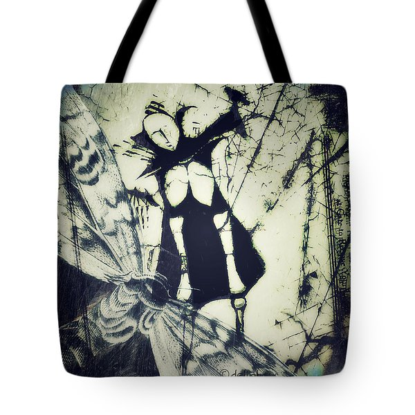 Tote Bag featuring the digital art Beating Of Wings by Delight Worthyn