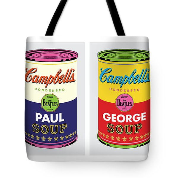 Beatle Soup Cans Tote Bag