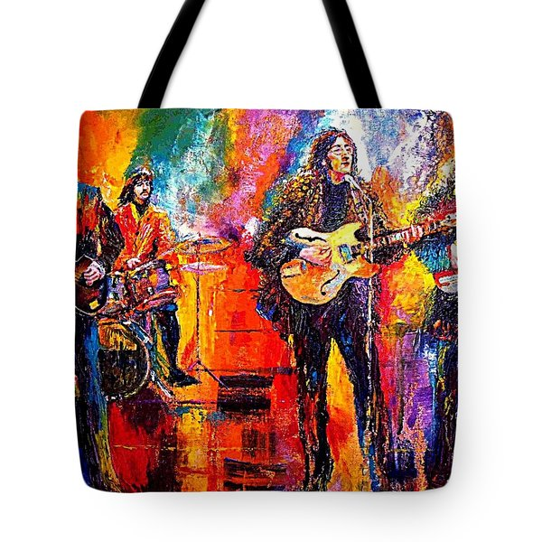 Beatles Last Concert On The Roof Tote Bag by Leland Castro